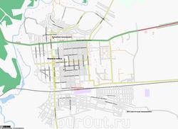 Карта Борисоглебска