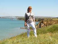 Вид на Азовское море с берега