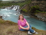 Уникальнийшие лавовые водопады Хрейнфоссар. Hraunfossar — серия небольших водопадов, формирующиеся из многочисленных ручейков (более 100) протяжностью ...