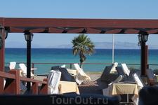 Ресторан отеля на берегу моря