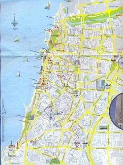 Карта Тель Авива
