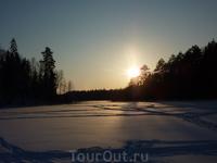 Февраль 2012г. На закате. Исток речки Киуй.