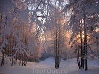 Восход в морозцы.
