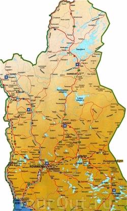 Карта Лапландии