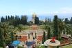 Хайфа. Бахайские сады.Златоглавый храм-усыпальница - центр садов и святыня Бахаев. Тут покоятся останки одного из двух основателей веры Баха-Уллы.