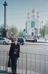 Центральная площадь  Калининграда - площадь Победы.Вдалеке  Храм Христа Спасителя.