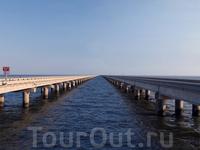 Мост-дамба через озеро Поншартрен
