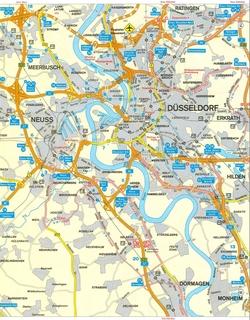 Карта Дюссельдорфа