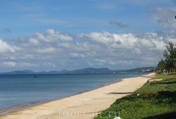 Пляж Лонг Бич к югу от Зуонг-Донга
