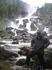 На заднем плане Чульчинский водопад (Учар). Чульча - приток Чулышмана. Чтобы попасть на водопад, нужно переправиться на др. сторону Чулышмана (на лодке) ...