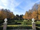 Вид на сады со стороны дворца.