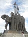 Памятник Александру Невскому на горе Соколиха. Псковичи помнят и чтят того, кто остановил экспасию ордена и освободил их город.