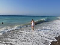 Эгейское море, всегда бурное и теплое.