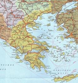 Карта Греции на русском