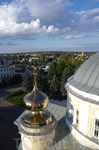 Вид с колокольни собора.