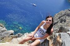 Средиземное море с акрополя.