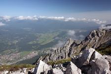Внизу - город Миттенвальд, мы на высоте 2250м