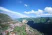 Вид из кабинки с канатной дороги по пути в Татев. Эта канатная дорога считается самой длинной в мире.