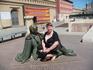Пласа дель Пилар. Скульптура у памятника Гойи.