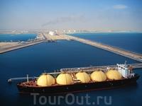 Судно для перевозки газа, порт Рас-Лаффан, Аль-Хор, Катар