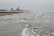 Бельгия. Остенде. Холодное Северное море