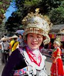 Такие головные уборы - праздничный наряд китайской девушки.