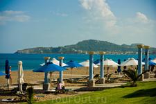 пляж на территории отеля