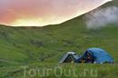 Лагерь в горах, верховье Архыза