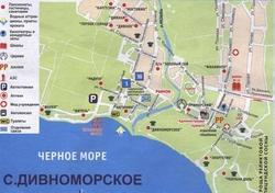 Карта Дивноморского с гостиницами