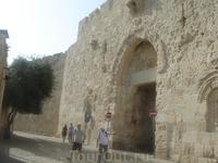 Сионские ворота в крепостных стенах Иерусалима