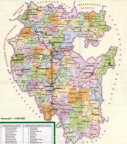 Карта Башкирии