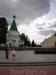 Территория Нижегородского кремля. Михайло-Архангельский собор и Присутственные места