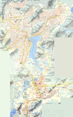 Карта Златоуста
