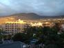 Вид из окна отеля. Закат солнца