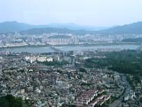 Вид Сеула с башни N 서울타워