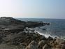 Левая сторона берега от города Сиде.