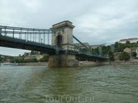 Мост над Дунаем,прогулка на пароходе