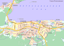 Карта Петрозаводска
