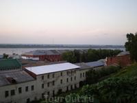 Вид на Волгу от стен Нижегородского кремля