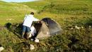 17.07.12 06.38 Утро второго дня похода Как оказалось мы взяли с собой не ту палатку.Палатка должна быть двойная,в горах при наступлении темноты выпадает ...