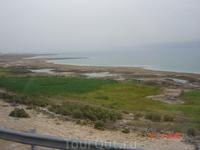 Мертвое море из окна автобуса.