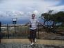 Со смотровой площадки около креста чудный вид на Эгейское море и видно турецкий берег