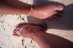 песок на пляже Пи-Пи Ле похож на муку... мелкий ракушечник, который не нагревается на солнце