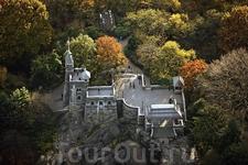 Замок Бельведер на вершине Скалы Vista Rock, Центральный парк, Манхэттен, Нью-Йорк