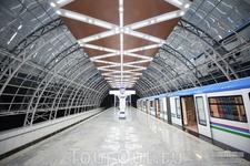 Новый станции надземного метро Ташкента