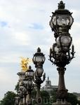 Фонари на мосту, названного в честь российского императора Александра III