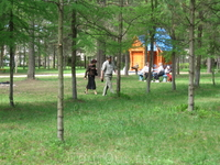 Парк очень просторный