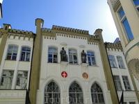 Здание гильдии Канута. Впервые упоминание об этой гильдии относитя к 1326 году.