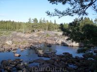 чтобы добраться до леса с Петроглифами, нужно перейти эту реку по камням( экстремальный немного был тур))) )