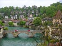 Вид на жилые районы швейцарской столицы